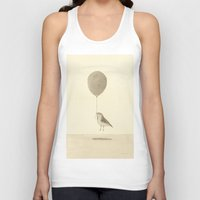 bird with a balloon Unisex Tank Top