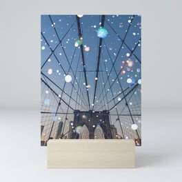 new york lights Mini Art Print