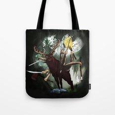 Battle elk Tote Bag
