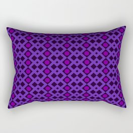 Geometric Design - Purple and Magenta - Diamonds Circles Squares Rectangular Pillow