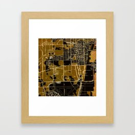 Fort Lauderdale old map year 1949, united states old maps Framed Art Print