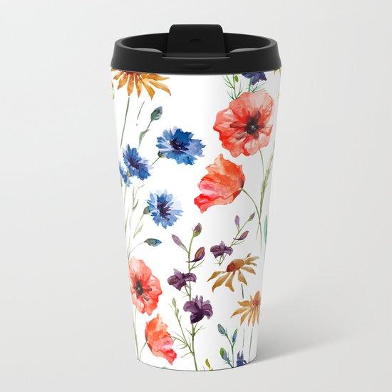 Floral Madness Metal Travel Mug