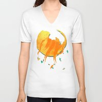 cosmos V-neck T-shirts featuring Cosmos by Caitlin Victoria Parker