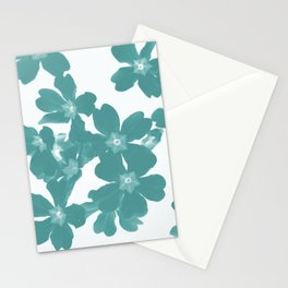 Floral Teal Stationery Cards