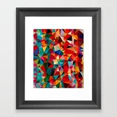 Polygon Pattern Framed Art Print