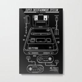 SNES PAL Metal Print