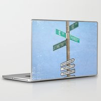 springsteen Laptop & iPad Skins featuring Springstreets by Nicko-Suave Art