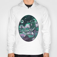 mythology Hoodies featuring Mermaid Siren Pearl of atlantis mythology by Scott Jackson Monsterman Graphic
