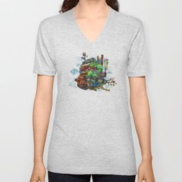 Howl's Moving Castle Unisex V-Neck