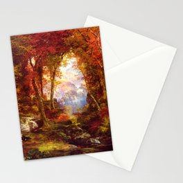 Under The Trees 1865 By Thomas Moran | Natural Wildlife Scenery Reproduction Stationery Cards