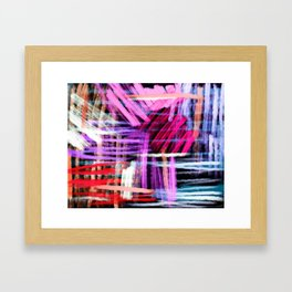 oil pastels abstract pattern Framed Art Print