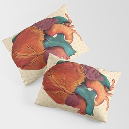 Anatomical Human Heart - Textbook Color Pillow Sham