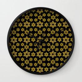 Star of David Pattern Wall Clock
