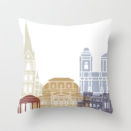 San Jose CR skyline poster Throw Pillow