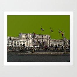 Union Station on Capitol Hill, Washington, DC - Historic DC - USA Art Print