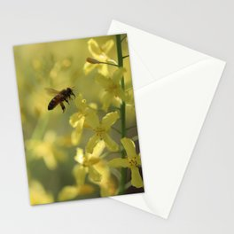 Bee in flight Stationery Cards