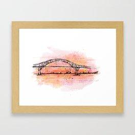 Bridge in coral Framed Art Print