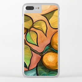 Coral Sunset over Lemon tree Clear iPhone Case