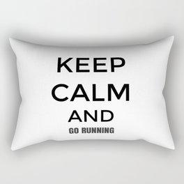 Keep Calm And Go Running, Gift For Runner, Gift For Him, Gift For Her Rectangular Pillow