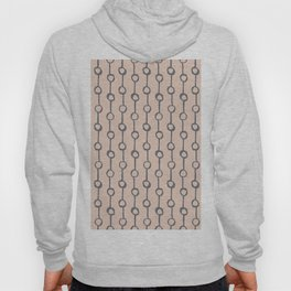 Minimalist Vertical Dot Stripe Navy Gray on Blush Pink Hoody