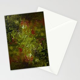 The art of oil painting. Abstract brushstrokes. Night in the garden. Stationery Cards