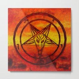 Satan's Sigil by SK Metal Print