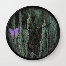 Purple and Sage Wall Clock