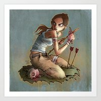 megan lara Art Prints featuring Lara by poopbird