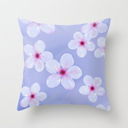 Cherry Blossoms - Painting Throw Pillow