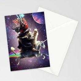Cat Riding Chicken Turtle Panda Llama Unicorn Stationery Cards