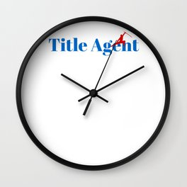 Title Agent Ninja in Action Wall Clock