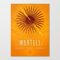 martell Canvas Prints featuring House Martell Sigil III (house words) by P3RF3KT