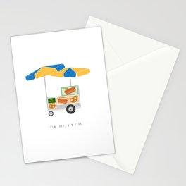 New York City, NYC Hot Dog & Pretzel Cart Stationery Cards