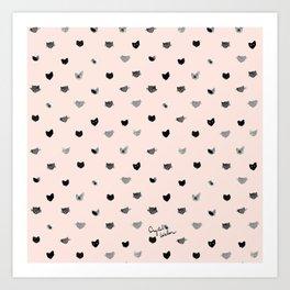 Cat Dot Art Print