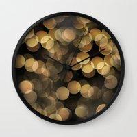 bokeh Wall Clocks featuring Bokeh by Christine VanFonda