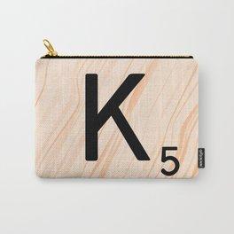 Scrabble Letter K - Large Scrabble Tiles Carry-All Pouch