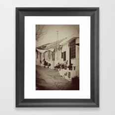 Omodos Cyprus in a time gone by Framed Art Print