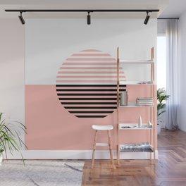 Horizons Geometric Design 5 - Peach Pink Wall Mural