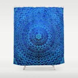 Blue Flower Mandala Shower Curtain