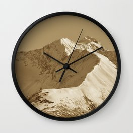 Majestic Mountain - Sepia Wall Clock
