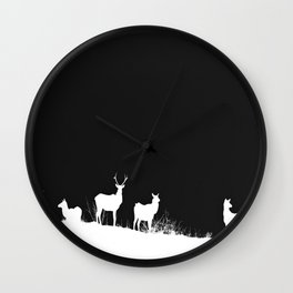 White Hart in the night Wall Clock