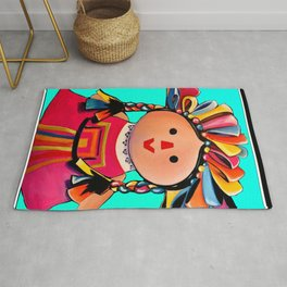 Mexican Maria Doll (turquoise) Rug