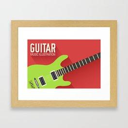 Electric Guitar Poster Framed Art Print