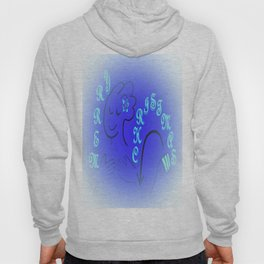 American Sign Language Merry Christmas BLUE Version Hoody