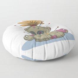 Funny voodoo doll chakra stones yoga lotus Floor Pillow