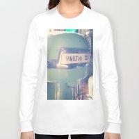 tiffany Long Sleeve T-shirts featuring Tiffany Blue Hamilton Beach by Redhedge Photos