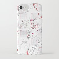 calendar iPhone & iPod Cases featuring Calendar mess by Dreamy Me