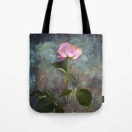 Single Wilted Rose Tote Bag