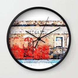 Borrello: ancient distillery Wall Clock
