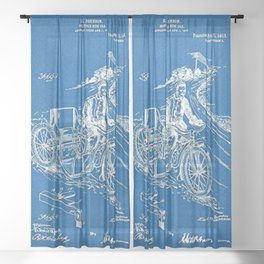 1913 Oeknow Motorcycle sidecar patent Sheer Curtain
